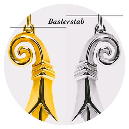 Baslerstab in Gold Silber