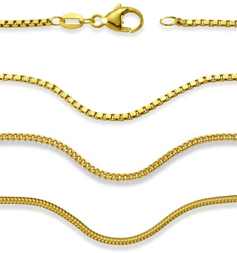 Klassische Halsketten in Gold
