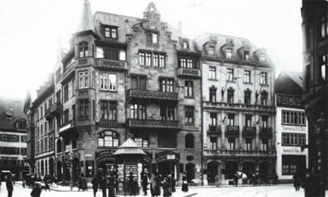 Rüdengasse in Basel um 1912