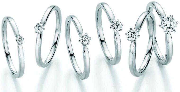 Solitär Diamant Ringe