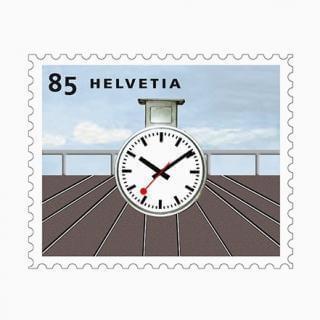 Bahnhofsuhr Briefmarke